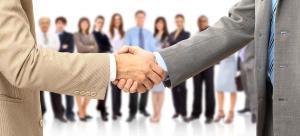 banner shake hands